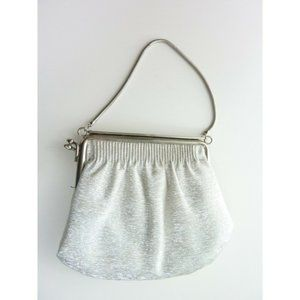 Vintage Silver Metallic Clutch Purse